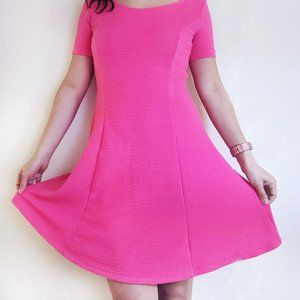 DIVIDED Knit Short Sleeve Fit + Flare Dress